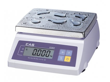 Voděodolná váha CAS SW 1W do 2,5-5kg/1-2g - cejchovaná