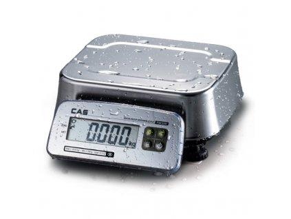 Voděvzdorná váha CAS FW-500 do 15-30kg/5-10g - cejchovaná
