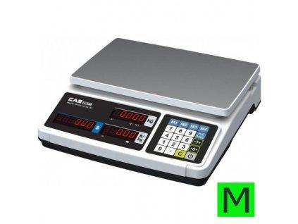 Obchodní váha CAS PR PLUS do 3-6kg/1-2g - cejchovaná