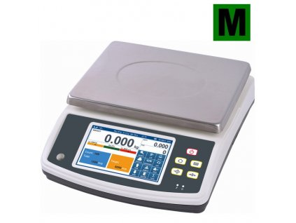 Dotyková počítací váha TSCALE Q7-40 do 1,5-3kg/0,5-1g - cejchovaná