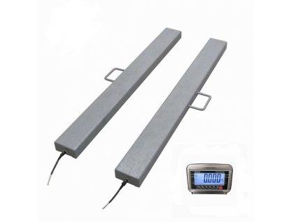 Nerezové ližinové váhy 120x1250mm do 600kg/0,2kg