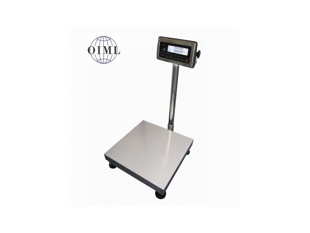 Lesak 1T4040LN - RWP/DR 400 x 400 mm (150 kg) můstková váha - lak/nerez