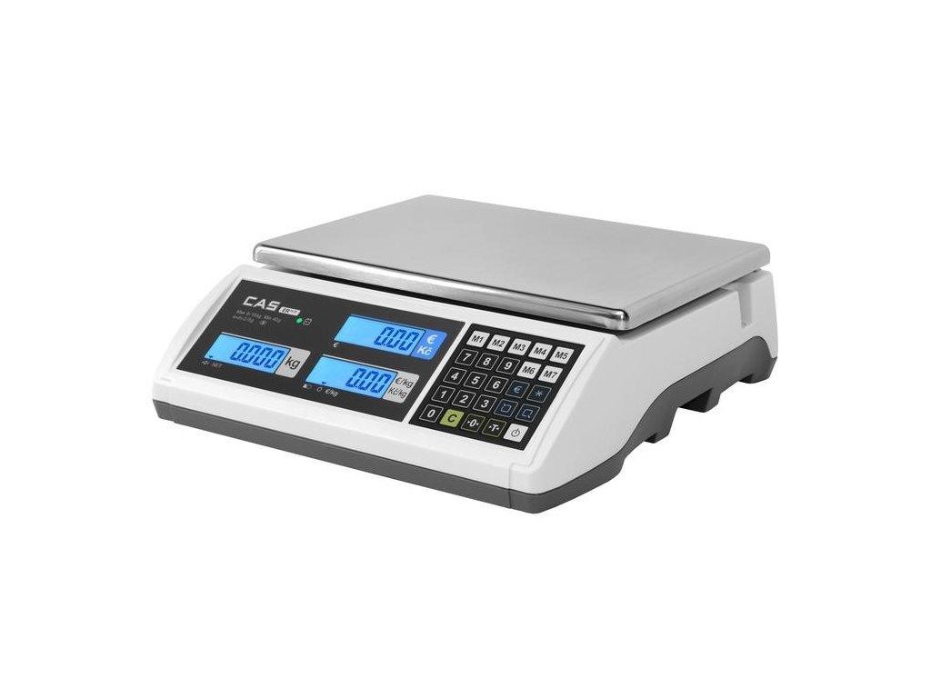 CAS ER PLUS, 15 kg / 5 g, 305 x 220 mm, obchodní váha