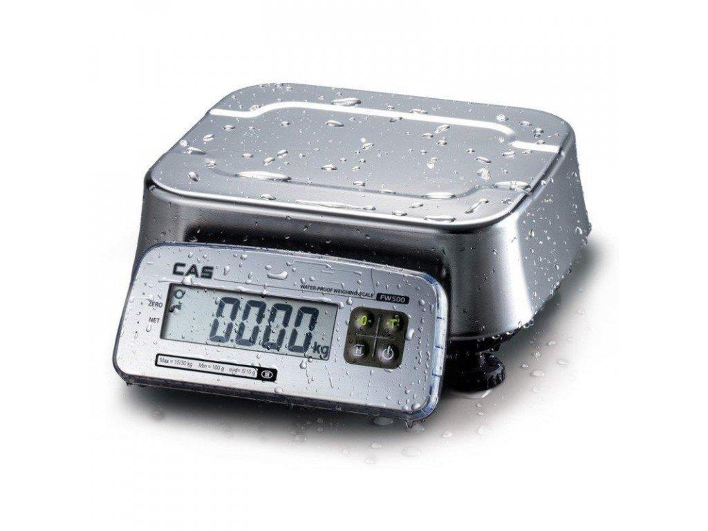 CAS FW-500, 15 kg / 5 g, vodovzdorná váha