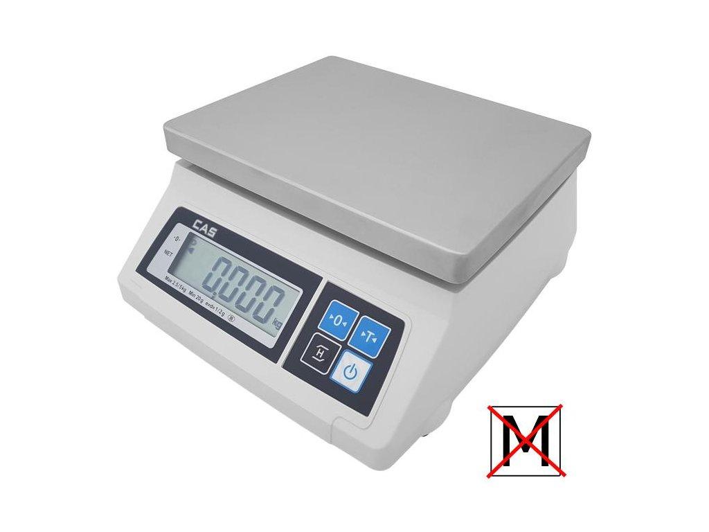 CAS SW 1S-5DRT, 5 kg / 2 g, kontrolní váha