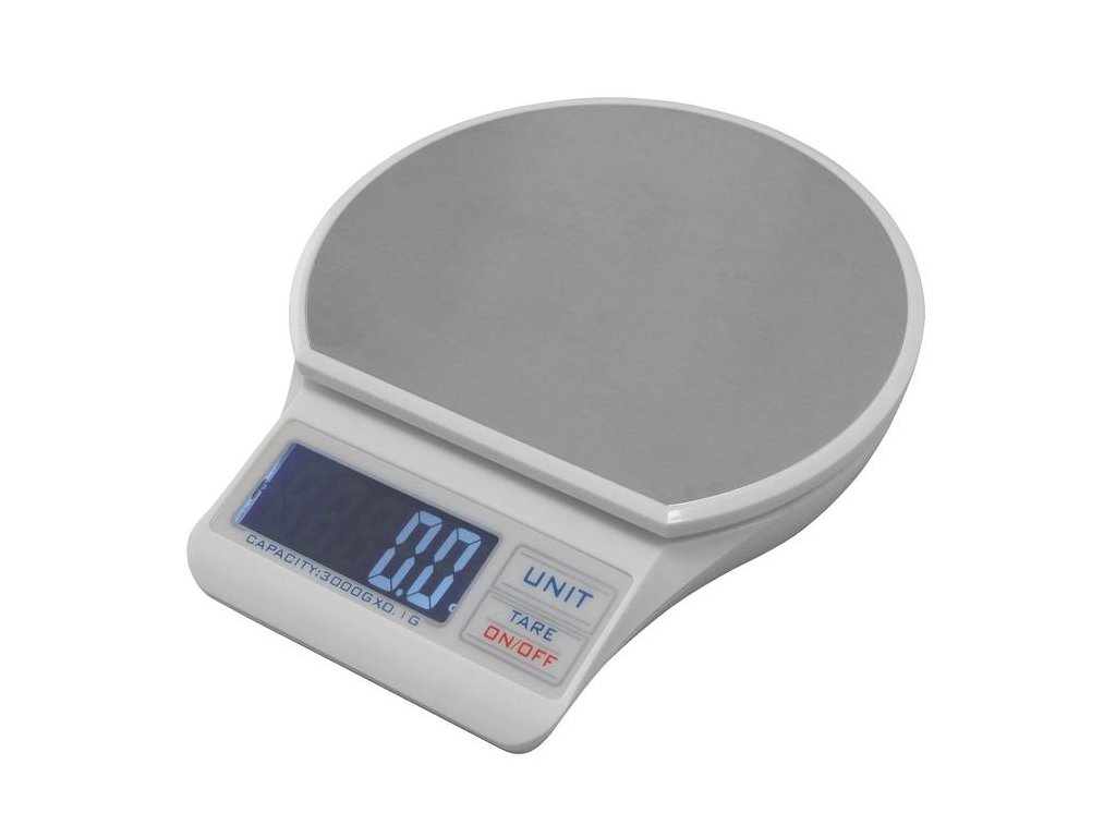 Digitální váha TB01, 3 kg / 0, 1g, 120 x 106 mm,  USB napájení
