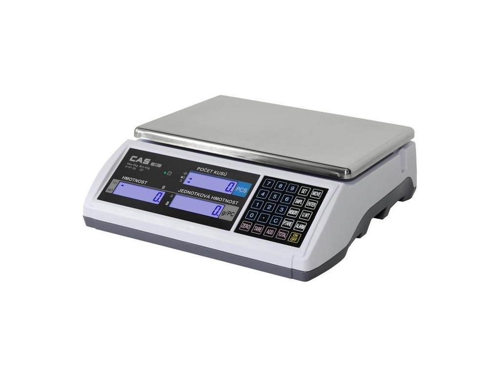CAS EC, (15 kg / 5 g), počítací váha, ověřitelná