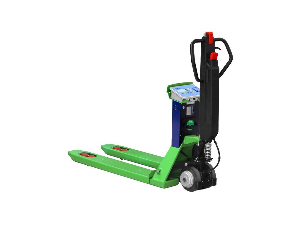 """Dini Argeo TPW """"E-FORCE"""", 1200 kg, vážící elektrický paletový vozík s tiskárnou"""