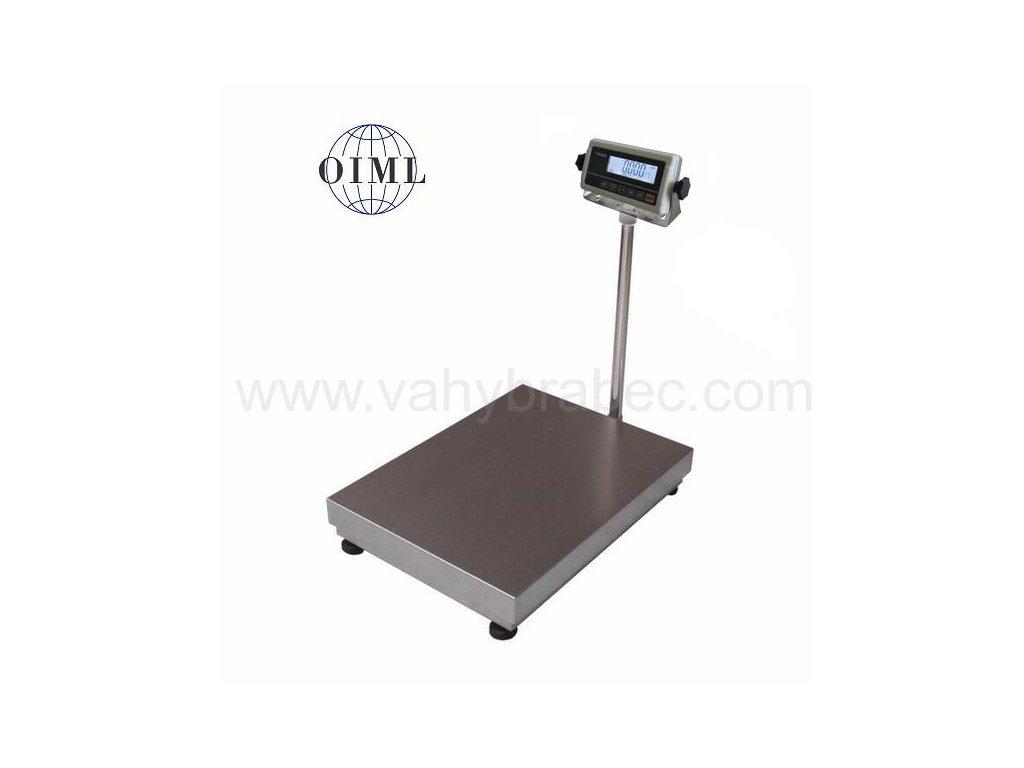 Lesak 1T4560LN - RWP/DR, 60 kg / 20 g, 450 x 600 mm, lak / nerez