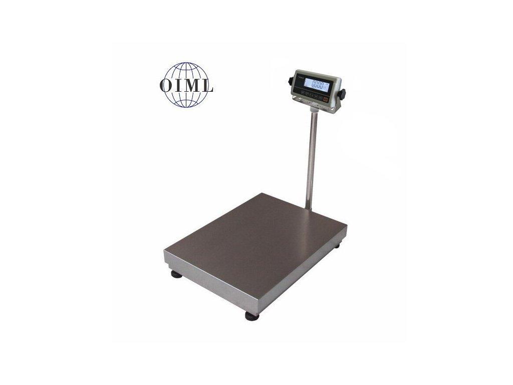 Lesak 1T4560LN - RWP/DR, 150 kg / 50 g, 450 x 600 mm, lak / nerez