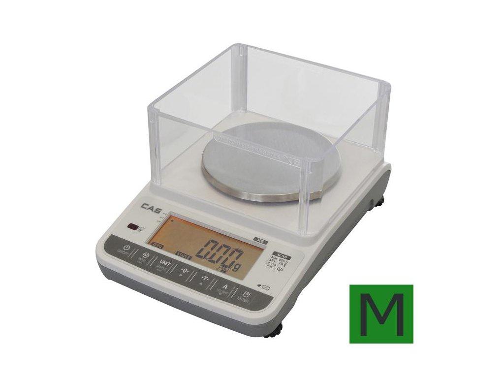 CAS XE, 600 g / 0, 01 g, zlatnická váha s ověřením