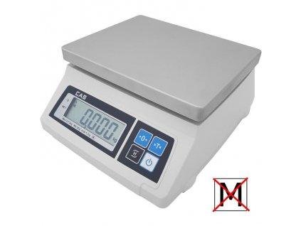 CAS SW 1S-2DRT, 2 kg / 1 g, kontrolní váha