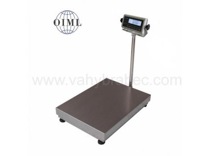 Lesak 1T4560LN - RWP/DR, 500 kg / 200 g, 450 x 600 mm, lak / nerez