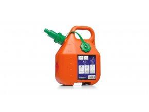 Kanystr na benzín, 6 l, oranžový