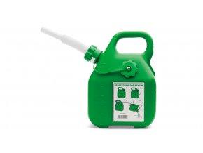 Kanystr na benzín, zelený