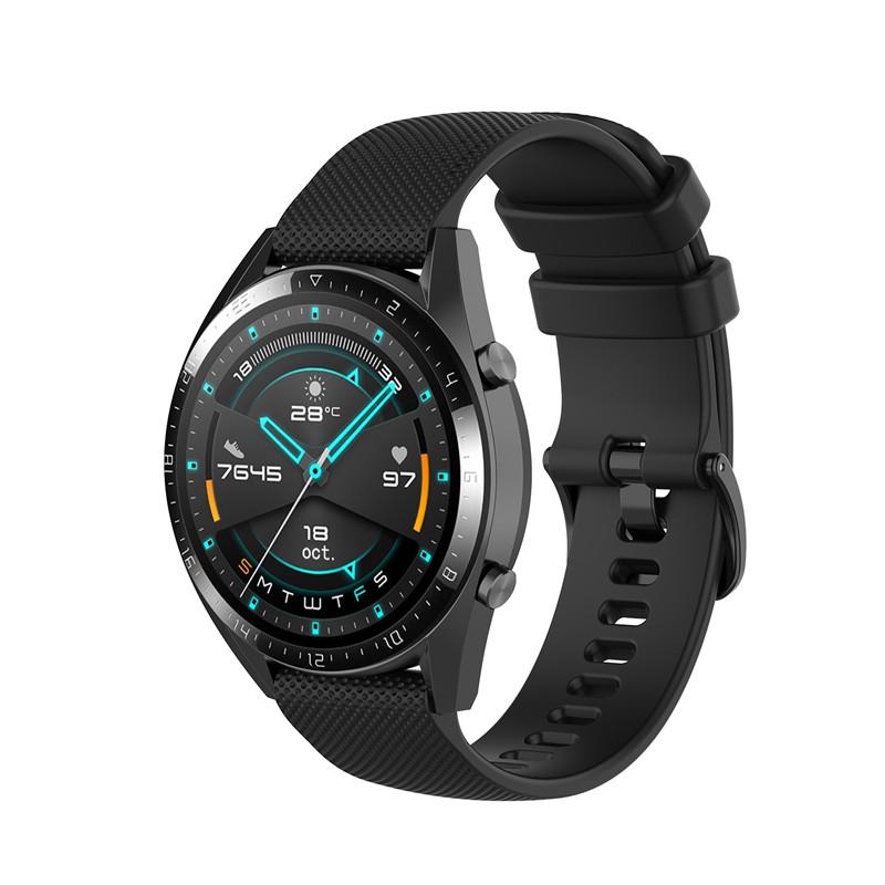 Náhradní řemínek šířka 20 mm Samsung Galaxy Watch 42 mm Xiaomi GTR 42 mm a další jednobarevný s přezkou v barvě řemínku 2003 Barva: černá