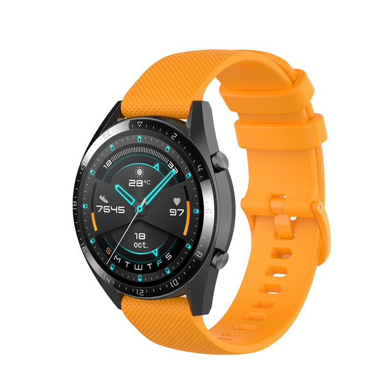 Náhradní řemínek šířka 20 mm Samsung Galaxy Watch 42 mm Xiaomi GTR 42 mm a další jednobarevný s přezkou v barvě řemínku 2003 Barva: oranžová