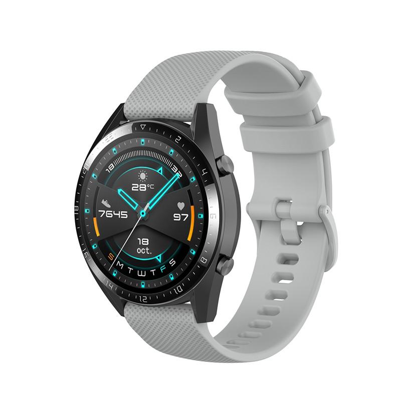 Náhradní řemínek šířka 20 mm Samsung Galaxy Watch 42 mm Xiaomi GTR 42 mm a další jednobarevný s přezkou v barvě řemínku 2003 Barva: šedá