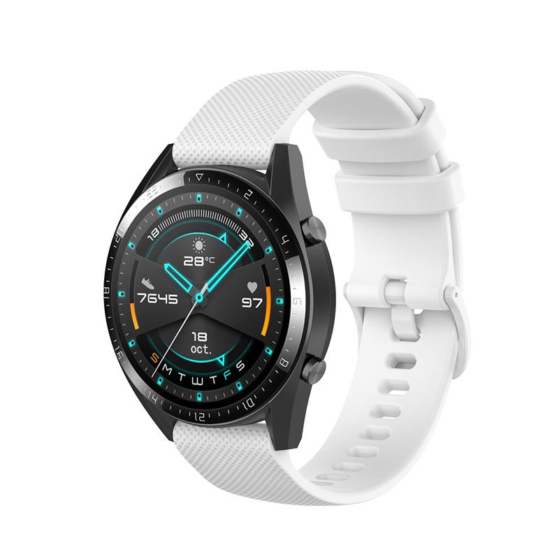 Náhradní řemínek šířka 20 mm Samsung Galaxy Watch 42 mm Xiaomi GTR 42 mm a další jednobarevný s přezkou v barvě řemínku 2003 Barva: bílá