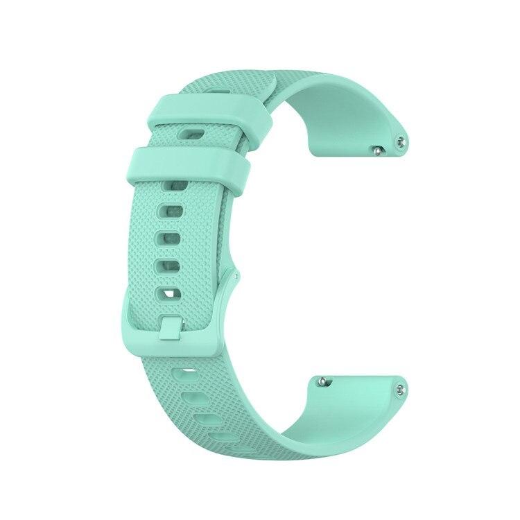 Náhradní řemínek šířka 20 mm Samsung Galaxy Watch 42 mm Xiaomi GTR 42 mm a další jednobarevný s přezkou v barvě řemínku 2003 Barva: mentolová