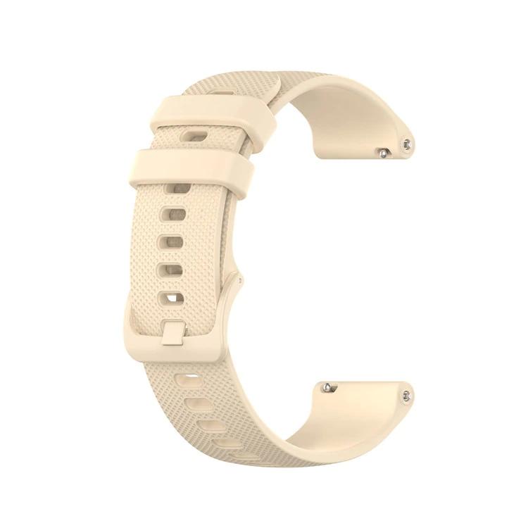 Náhradní řemínek šířka 20 mm Samsung Galaxy Watch 42 mm Xiaomi GTR 42 mm a další jednobarevný s přezkou v barvě řemínku 2003 Barva: zlatá
