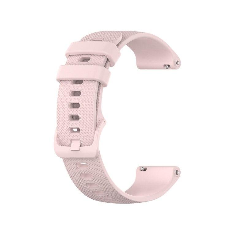 Náhradní řemínek šířka 20 mm Samsung Galaxy Watch 42 mm Xiaomi GTR 42 mm a další jednobarevný s přezkou v barvě řemínku 2003 Barva: světle růžová