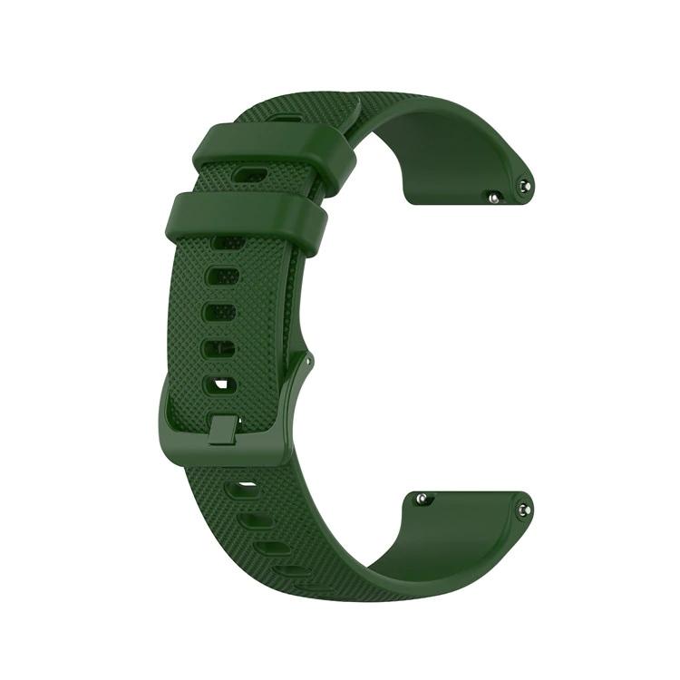 Náhradní řemínek šířka 20 mm Samsung Galaxy Watch 42 mm Xiaomi GTR 42 mm a další jednobarevný s přezkou v barvě řemínku 2003 Barva: tmavě zelená,…