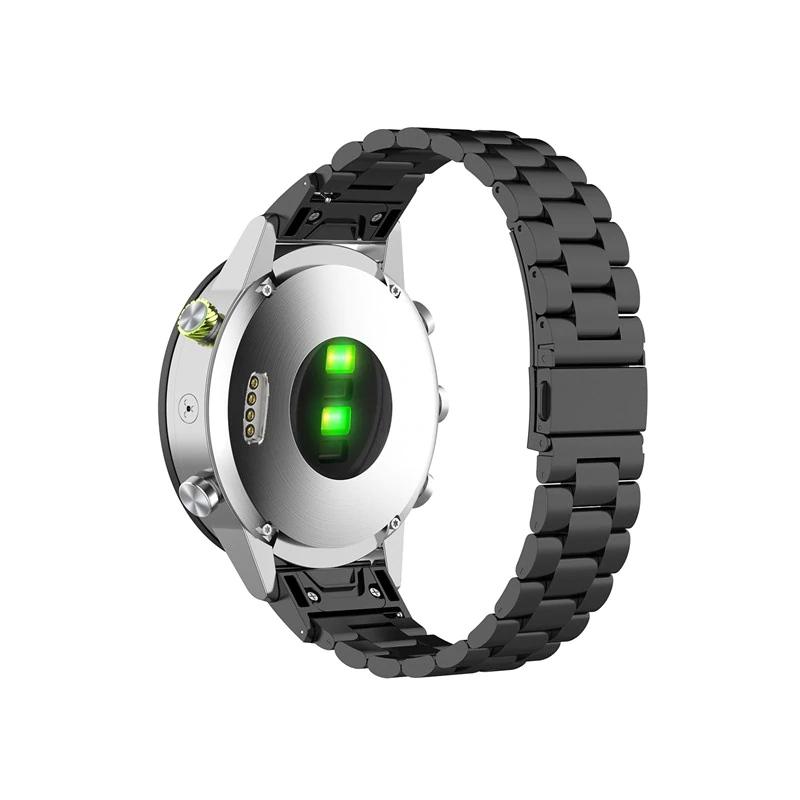Garmin Fenix 5S Garmin Fenix 6S náhradní řemínek ocelový nerezový Barva: černá, Zapínání náramku: přezka