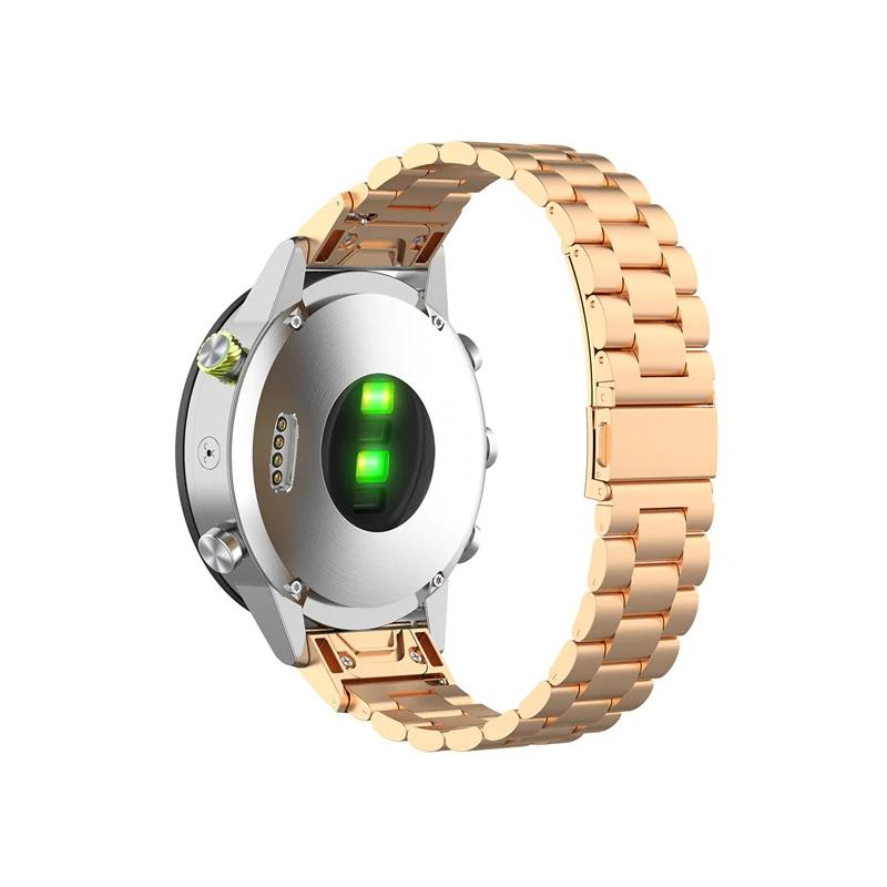 Garmin Fenix 5S Garmin Fenix 6S náhradní řemínek ocelový nerezový Barva: zlato s patinou, Zapínání náramku: přezka