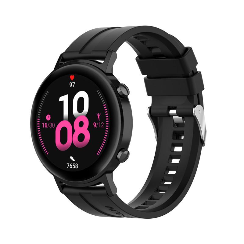 Náhradní řemínek šířka 20 mm Samsung Galaxy Watch 42 mm černý s černou přezkou 2001