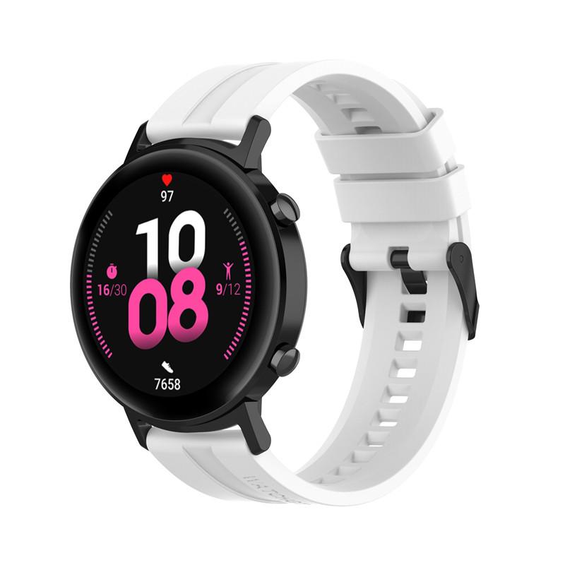 Náhradní řemínek univerzální šířka 22 mm pro Samsung Galaxy Watch 3 Xiaomi GTR 47 mm Forerunner 745 s přezkou různé barvy 2201 Barva: hnědá, Zapínání…