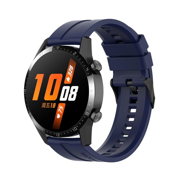 Náhradní řemínek univerzální šířka 22 mm pro Samsung Galaxy Watch 3 Xiaomi GTR 47 mm Forerunner 745 s přezkou různé barvy 2201 Barva: tmavě modrá,…