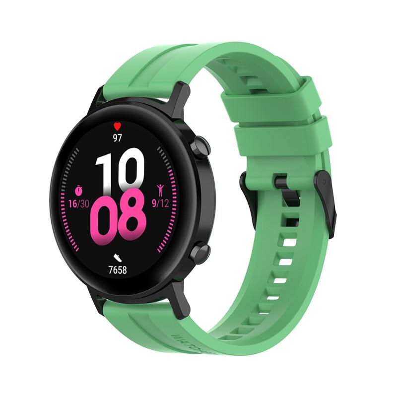 Náhradní řemínek univerzální šířka 22 mm pro Samsung Galaxy Watch 3 Xiaomi GTR 47 mm Forerunner 745 s přezkou různé barvy 2201 Barva: Zelená, Zapínání…