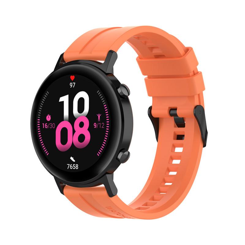 Náhradní řemínek univerzální šířka 22 mm pro Samsung Galaxy Watch 3 Xiaomi GTR 47 mm Forerunner 745 s přezkou různé barvy 2201 Barva: oranžová,…