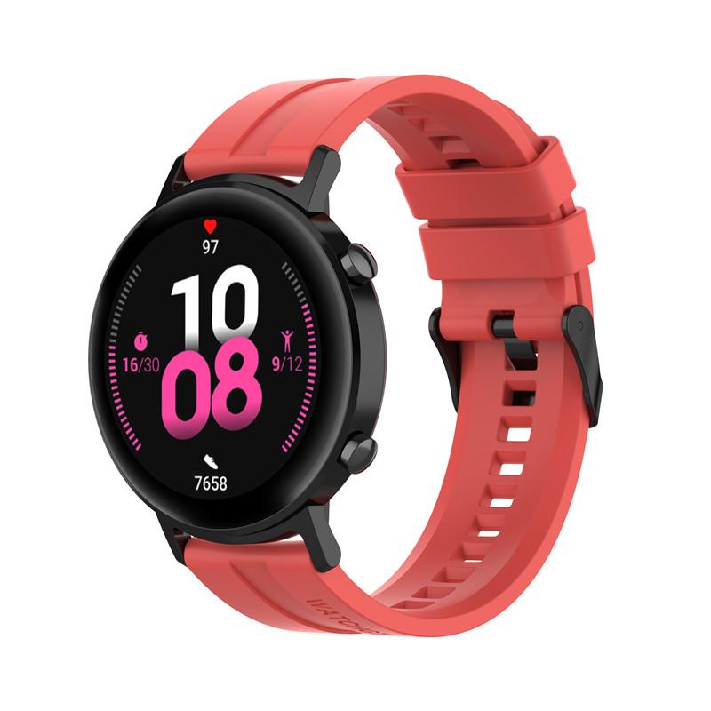 Náhradní řemínek univerzální šířka 22 mm pro Samsung Galaxy Watch 3 Xiaomi GTR 47 mm Forerunner 745 s přezkou různé barvy 2201 Barva: červená,…