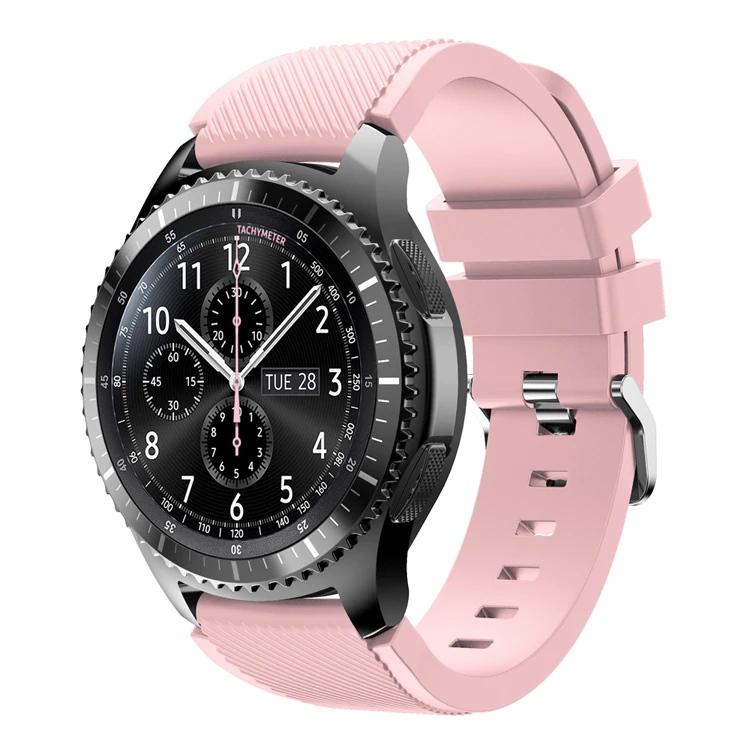 Náhradní řemínek univerzální šířka 22 mm pro Samsung Galaxy Watch 3 Xiaomi GTR 47 mm Forerunner 745 s přezkou různé barvy 2201 Barva: světle růžová,…