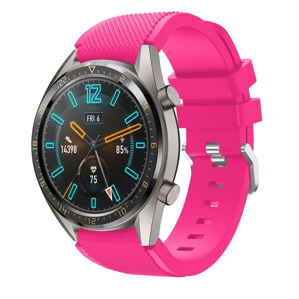 Náhradní řemínek univerzální šířka 22 mm pro Samsung Galaxy Watch 3 Xiaomi GTR 47 mm Forerunner 745 s přezkou různé barvy 2201 Barva: růžová, Zapínání…