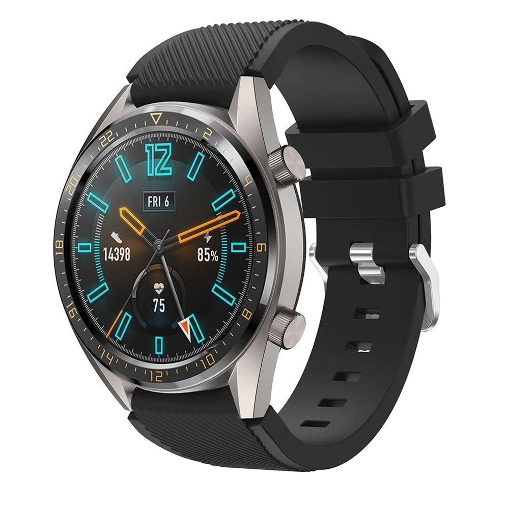 Náhradní řemínek univerzální šířka 22 mm pro Samsung Galaxy Watch 3 Xiaomi GTR 47 mm Forerunner 745 s přezkou různé barvy 2201 Barva: černá