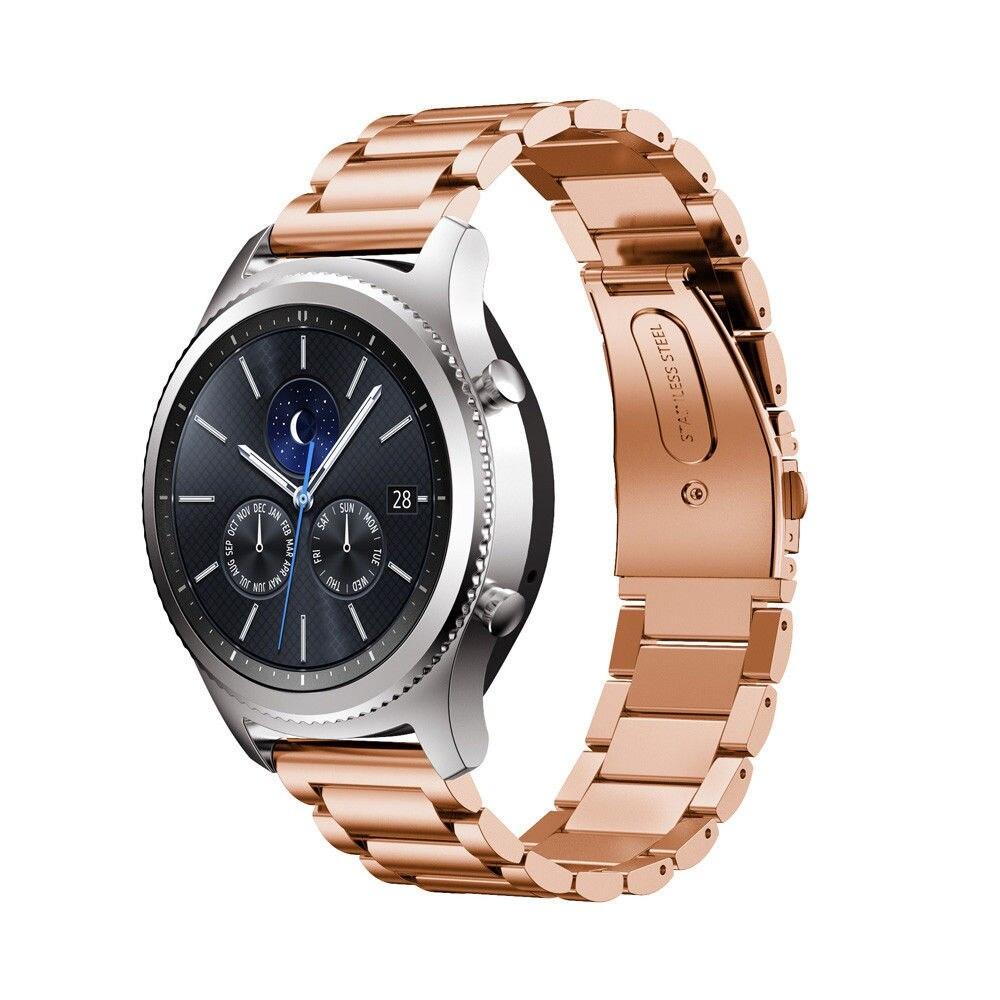 Náhradní řemínek univerzální nerezový premiový šířka 20 mm Samsung Galaxy Watch 42 mm Xiaomi GTS GTR 42 mm BIP a další 2008 Barva: růžové zlato
