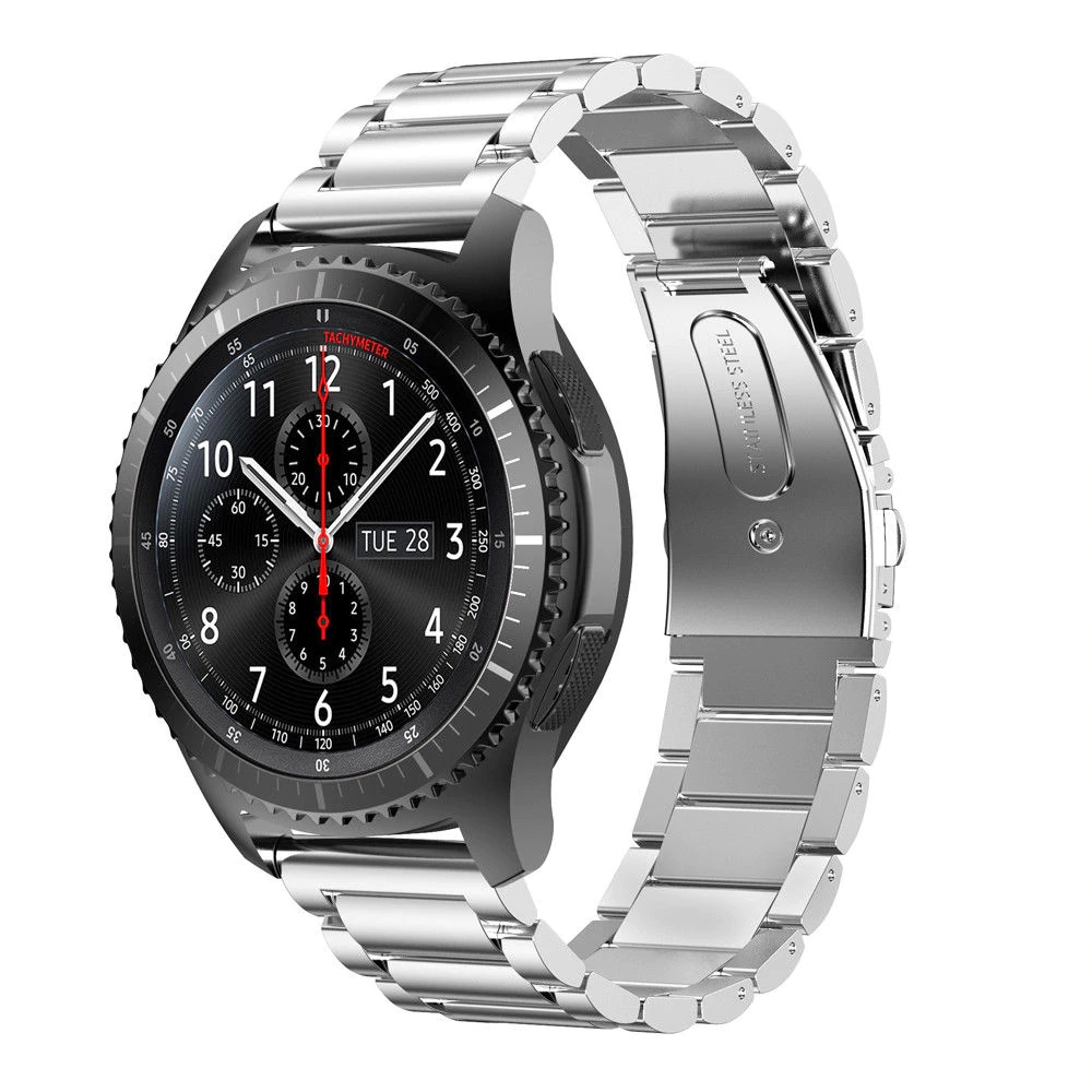 Náhradní řemínek univerzální nerezový premiový šířka 20 mm Samsung Galaxy Watch 42 mm Xiaomi GTS GTR 42 mm BIP a další 2008 Barva: stříbrná, Zapínání…