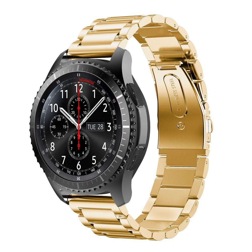 Náhradní řemínek univerzální nerezový premiový šířka 20 mm Samsung Galaxy Watch 42 mm Xiaomi GTS GTR 42 mm BIP a další 2008 Barva: zlatá