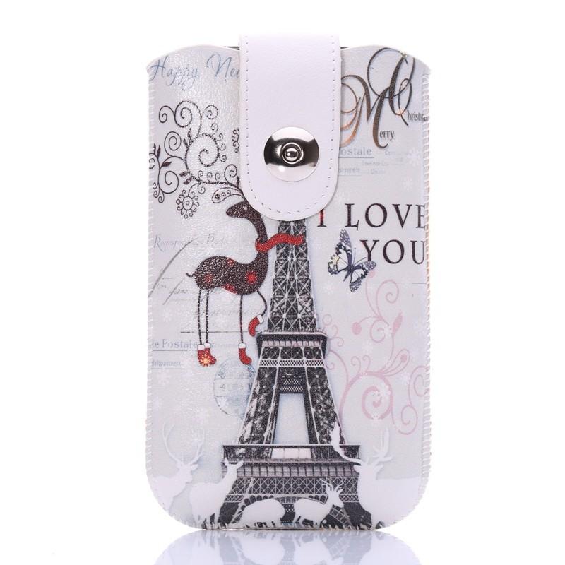 Univerzální pouzdro na opasek s potiskem pro mobily do 4,5´´ Barva: motiv Eiffelovka