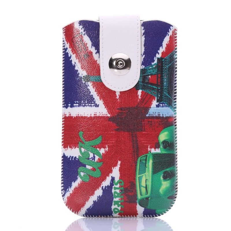 Univerzální pouzdro na opasek s potiskem pro mobily do 4,5´´ Barva: stará dobrá Anglie