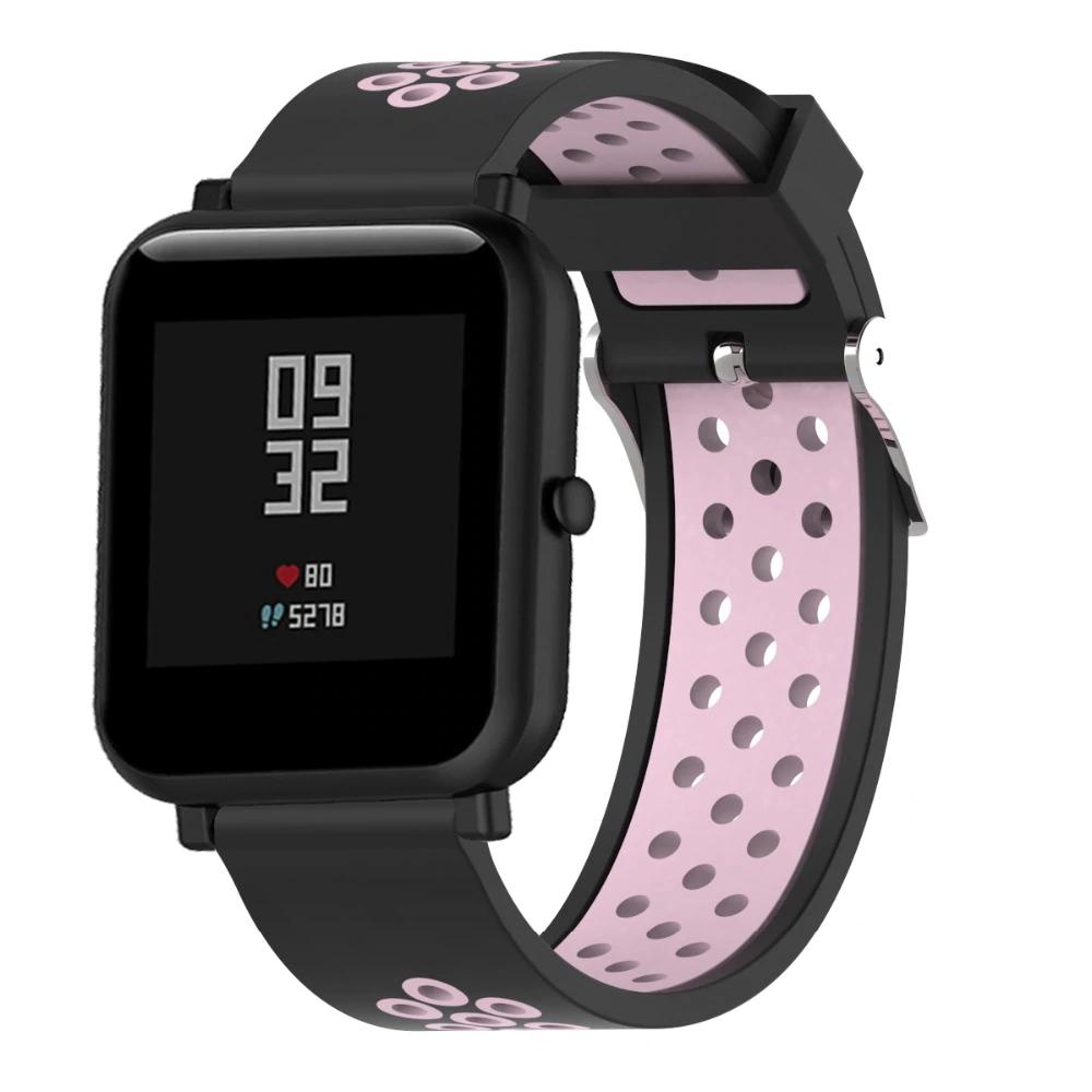 Náhradní řemínek šířka 22 mm Samsung Galaxy Watch 3 Huawei Watch GT 2 PRO Xiaomi GTR 47 mm a další 2204 Barva: s.růžová s černou