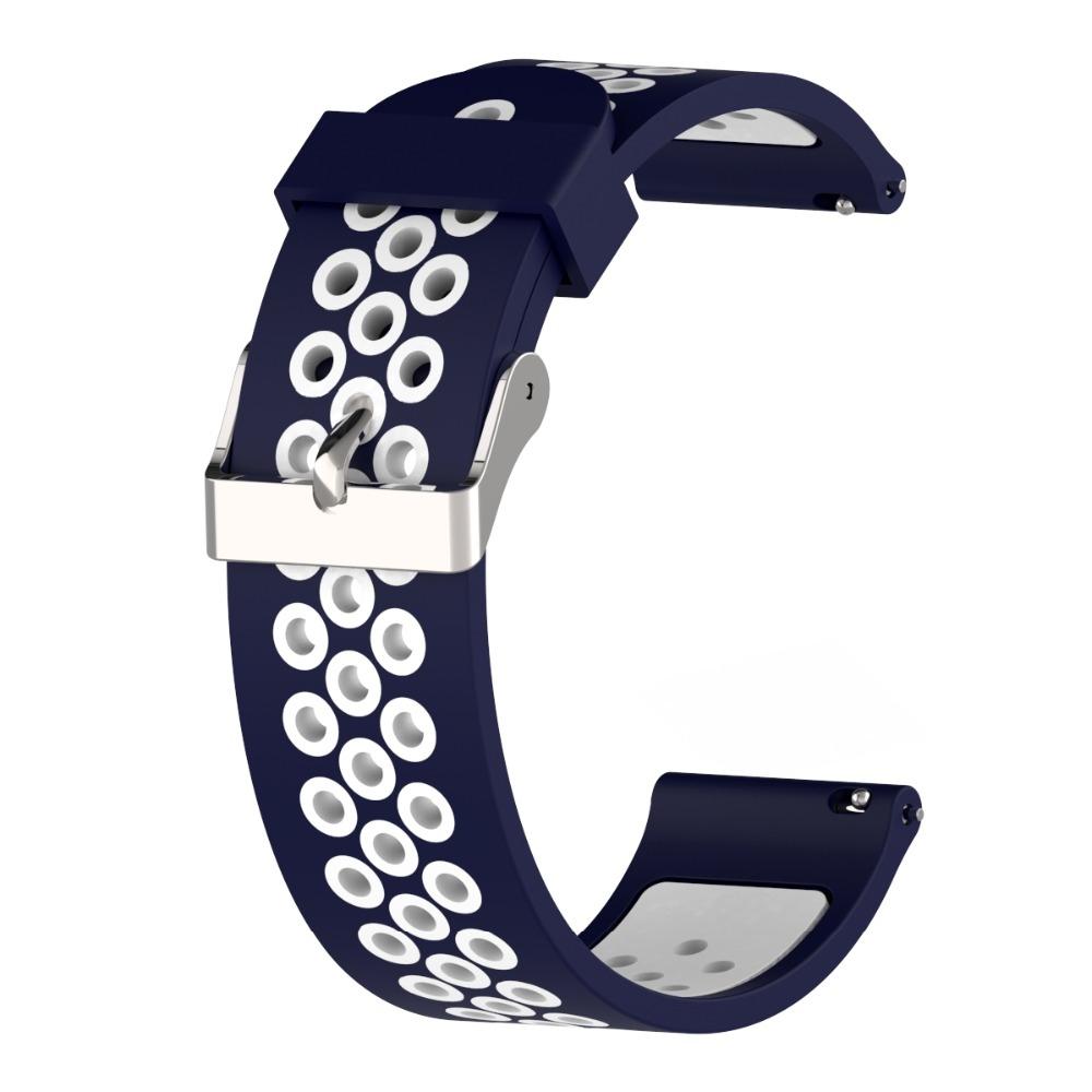 Náhradní řemínek šířka 22 mm Samsung Galaxy Watch 3 Huawei Watch GT 2 PRO Xiaomi GTR 47 mm a další 2204 Barva: modrá s bílou