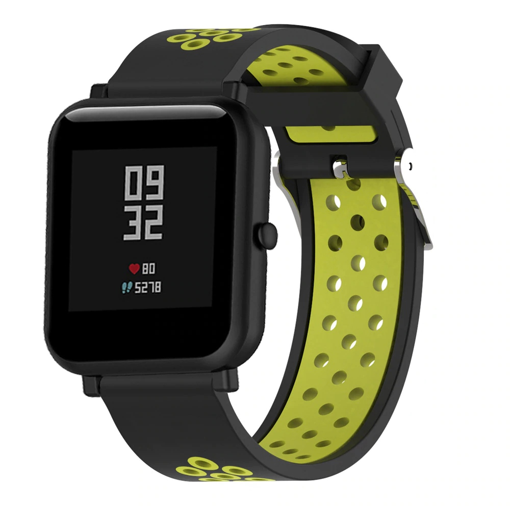 Náhradní řemínek šířka 22 mm Samsung Galaxy Watch 3 Huawei Watch GT 2 PRO Xiaomi GTR 47 mm a další 2204 Barva: černá se zelenou, Zapínání náramku:…