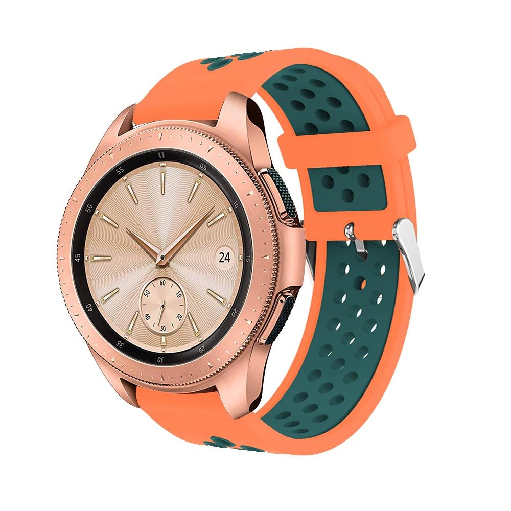 Řemínek š.20mm Samsung Watch 42mm,Xiaomi GTS,GTR 42mm Barva: Kombinace oranžová s tm. zelenou