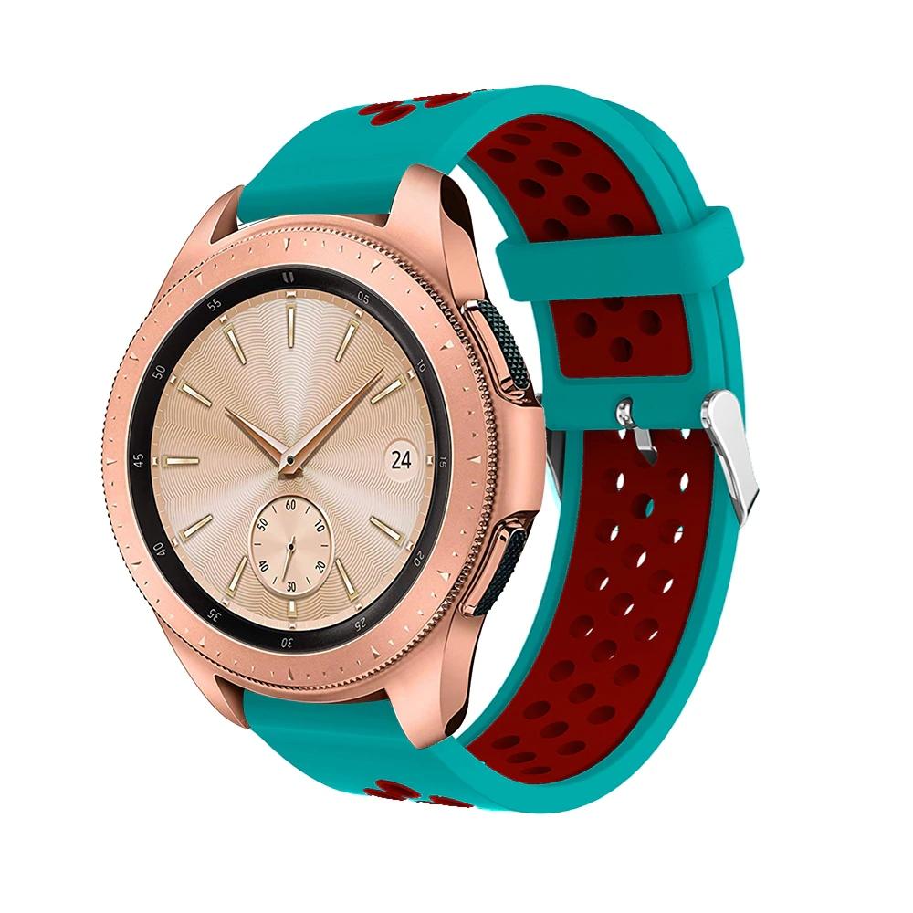 Řemínek š.20mm Samsung Watch 42mm,Xiaomi GTS,GTR 42mm Barva: Kombinace mentolová s červenou