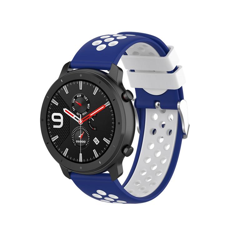 Řemínek š.20mm Samsung Watch 42mm,Xiaomi GTS,GTR 42mm Barva: modrá s bílou
