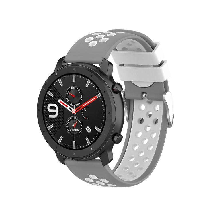 Řemínek š.20mm Samsung Watch 42mm,Xiaomi GTS,GTR 42mm Barva: šedá s bílou